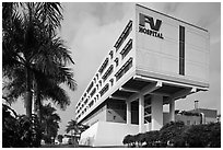 FV Hospital (one of the most modern in the country), Phu My Hung, district 7. Ho Chi Minh City, Vietnam ( black and white)