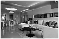 Condominium, Phu My Hung, District 7. Ho Chi Minh City, Vietnam ( black and white)