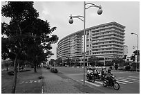 Phu My Hung Urban Area, District 7. Ho Chi Minh City, Vietnam ( black and white)