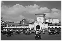 Ben Thanh Market. Ho Chi Minh City, Vietnam (black and white)