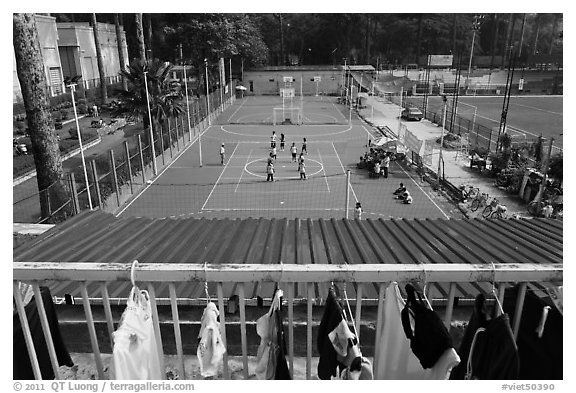 Sports Club,  Cong Vien Van Hoa Park. Ho Chi Minh City, Vietnam (black and white)