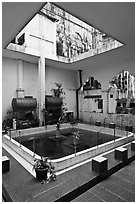 Mosque pool, Cholon Mosque. Cholon, District 5, Ho Chi Minh City, Vietnam ( black and white)