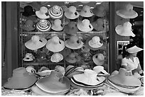 Store selling hats. Ho Chi Minh City, Vietnam ( black and white)