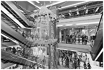 Shopping mall. Ho Chi Minh City, Vietnam (black and white)