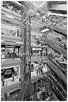 Shopping center. Ho Chi Minh City, Vietnam (black and white)