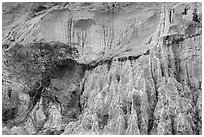 Erosion landscape of sand and sandstone. Mui Ne, Vietnam ( black and white)