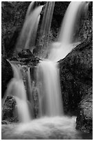 Waterfall detail, Fairy Spring. Mui Ne, Vietnam (black and white)
