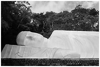 Tuong Phat Nam Buddha statue. Ta Cu Mountain, Vietnam (black and white)