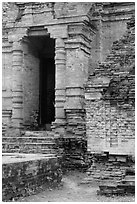 Entrance to sanctuary in Cham Tower. Mui Ne, Vietnam ( black and white)