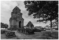 Po Shanu Cham temple complex. Mui Ne, Vietnam ( black and white)
