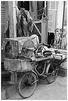 Altar on bicycle. Can Tho, Vietnam ( black and white)