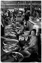 Fishmongers, Cai Rang. Can Tho, Vietnam ( black and white)