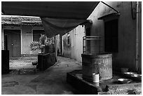 Well and alley. Hoi An, Vietnam ( black and white)
