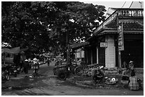 Market street. Hoi An, Vietnam ( black and white)