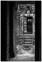 View from inside champa tower temple. My Son, Vietnam ( black and white)