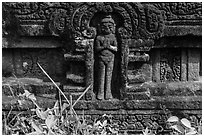 Relief detail with human figure. My Son, Vietnam (black and white)