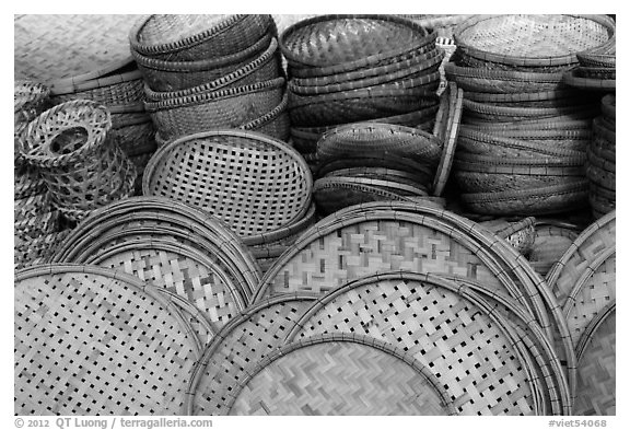 Baskets. Hoi An, Vietnam (black and white)