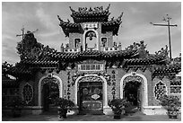 Quan Cong temple. Hoi An, Vietnam (black and white)