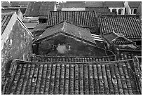Ancient tile rooftops. Hoi An, Vietnam ( black and white)