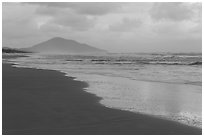 Beach in cloudy weather. Vietnam ( black and white)