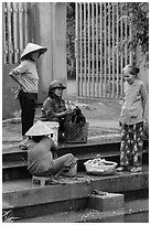 Villagers washing laundry, Thanh Toan. Hue, Vietnam ( black and white)
