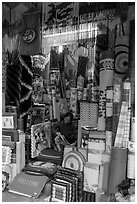 Store selling mats and rugs, old quarter. Hanoi, Vietnam (black and white)