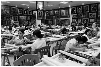Silk embroidery factory. Vietnam (black and white)