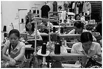Sewing factory. Vietnam ( black and white)