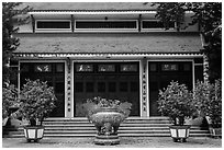 Tran Hung Dao temple. Ho Chi Minh City, Vietnam (black and white)