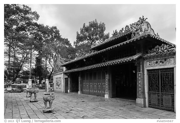 Le Van Duyet temple, Binh Thanh district. Ho Chi Minh City, Vietnam (black and white)