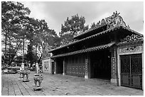 Le Van Duyet temple, Binh Thanh district. Ho Chi Minh City, Vietnam ( black and white)