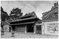 Temple dedicated to Marshal Le Van Duyet , Binh Thanh district. Ho Chi Minh City, Vietnam ( black and white)