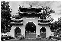 Le Van Duyet temple gate, Binh Thanh district. Ho Chi Minh City, Vietnam ( black and white)