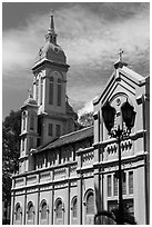 Church Jeanne d'Arc, district 5. Ho Chi Minh City, Vietnam (black and white)