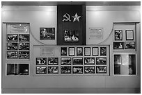 Historic photos, Ho Chi Minh Museum. Ho Chi Minh City, Vietnam ( black and white)