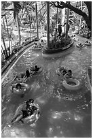 Inner tubing, Dam Sen Water Park, district 11. Ho Chi Minh City, Vietnam ( black and white)