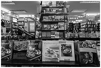 Books about Vietnam in bookstore. Ho Chi Minh City, Vietnam (black and white)