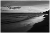 Beach at sunset. Mui Ne, Vietnam ( black and white)