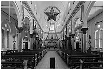 Church interior. Tra Vinh, Vietnam ( black and white)