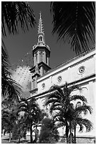 Church. Tra Vinh, Vietnam ( black and white)