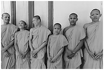 Novices, Hang Pagoda. Tra Vinh, Vietnam ( black and white)