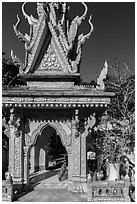 Spirit house, Ang Pagoda. Tra Vinh, Vietnam ( black and white)
