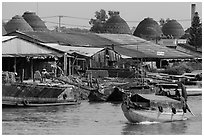 Riverside brick ovens. Sa Dec, Vietnam ( black and white)