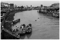 Tien River. Sa Dec, Vietnam ( black and white)
