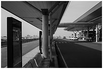 Departure level, Tan Son Nhat International Airport. Ho Chi Minh City, Vietnam ( black and white)
