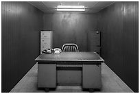 Military command room, Reunification Palace. Ho Chi Minh City, Vietnam ( black and white)