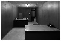 Military communications room, Independence Palace. Ho Chi Minh City, Vietnam ( black and white)