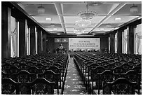Conference Hall, Reunification Palace. Ho Chi Minh City, Vietnam ( black and white)