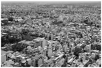 Aerial view of suburbs. Ho Chi Minh City, Vietnam ( black and white)