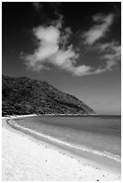 Cat Lon Beach, Bay Canh Island, Con Dao National Park. Con Dao Islands, Vietnam ( black and white)